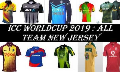 All about cricket world cup team�s jersey 2019