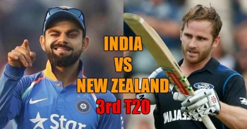 India vs New Zealand, 3rd T20I