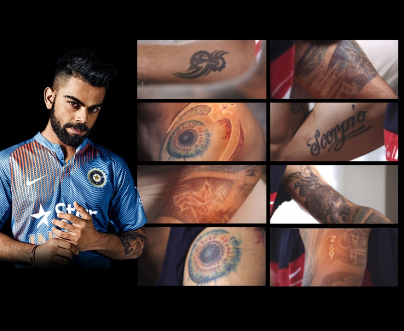 Virat Kohli's superb looking tattoos and the their meaning