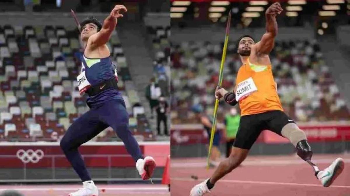 Paris Olympics 2024,Neeraj Chopra,olympics 2020,Sumit Antil,javelin gold,Tokyo Paralympics,Sumit breaks world record,Sumit wins 2nd gold for India,sports news,india paralympics,javelin throw,javelin paralympics