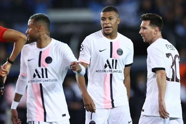 Lionel Messi Makes First PSG Start But Club Brugge Hold On For A Draw