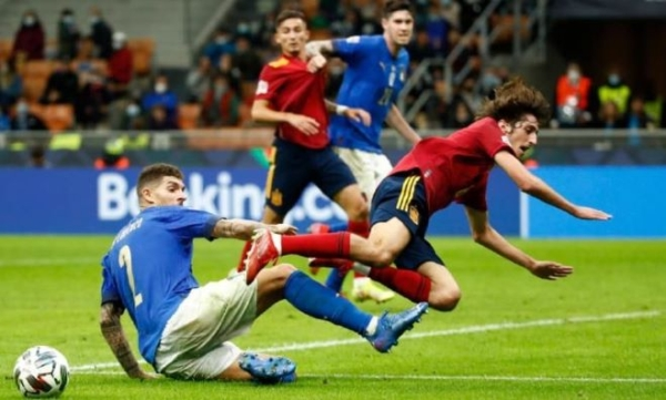 Italy's record 37-match unbeaten run ends with 1-2 defeat to Spain in Nations League