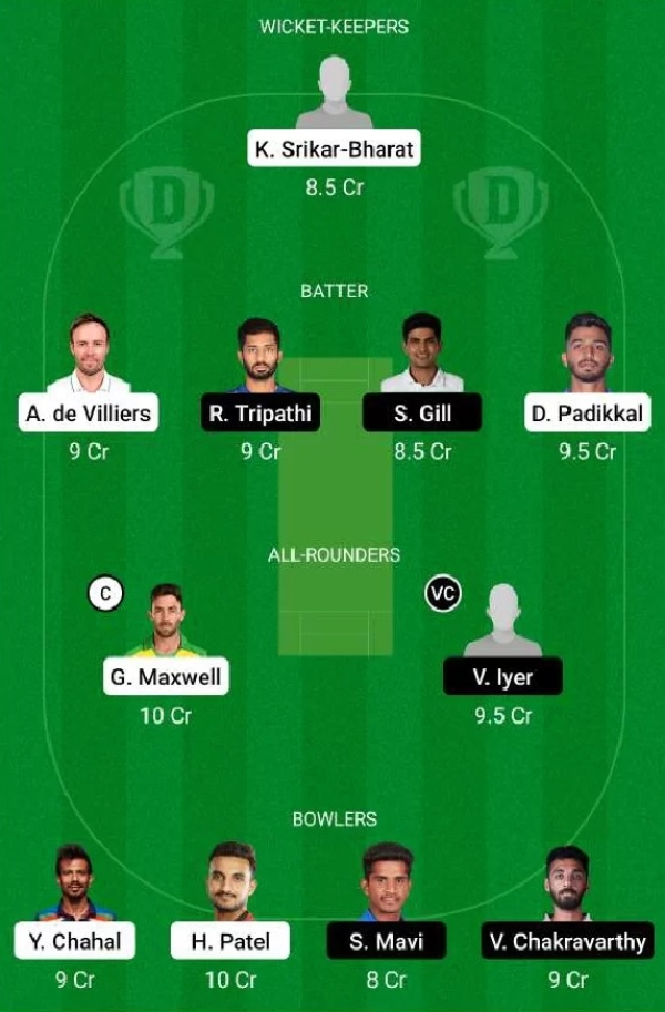 RCB vs KKR Dream11 Prediction, Fantasy Cricket Tips, Playing XI Updates
