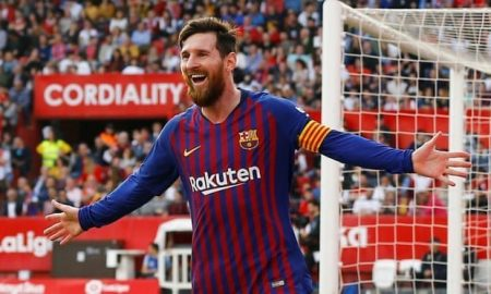 Barcelona end title-winning season with a draw and Messi hits the 50th goal